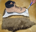 4 Large Brown Sheepskin Belly Pieces make Pads Pet Beds Shoe Insoles
