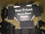 Best Friend Brand Have-A-Heart Grazing Muzzle TRIANGULAR NOSE LINER PAD Australian Merino Sheepskin Designed by JMS
