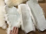 2 WHITE Merino Sheepskin Pieces Cut INSOLE Pads Reline Uggs Shoes Slippers Boots