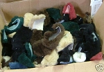 10 lbs MIX COLORS Merino Sheepskin Medium Wool Craft Scraps