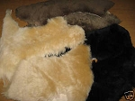 2 Beige Large Merino Sheepskin Wool Belly Pieces Pad Insoles