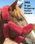 9 piece Merino Sheepskin Shipping Halter or Bridle Cover choice of 10 colors