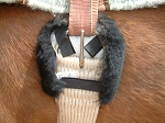 SPECIAL! SAVE ON 1 Pair BLACK Merino Sheepskin Cinch Ring Buckle or Billet Pads Make Horse Girths Comfortable!