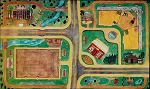Scratch & Dent SALE! Horseplay Road Rug Country Town Kids Play Mat for Horse Toys Car Breyer