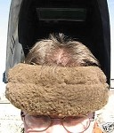 Welder Helmet Brown Merino Sheepskin Forehead Strap Pad