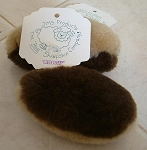 Natural Wool CHOMP Pet Toy of Merino Sheepskin for Dogs, Ferrets, Kids