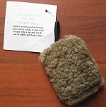 Real SHEEPSKIN CAT TOY Refillable Organic CATNIP HOBO Bag