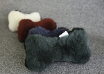 USA Made Natural Wool SMALL Dog Bone Shaped Merino Sheepskin Dog Toy for Pets
