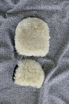 Clean Naturally Pair Sheepskin Wash Mitt + Buff Dust Pad Paint Stain