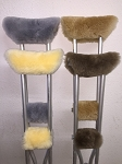 Crutch Pad Covers Merino Sheepskin + Handle Grip Pads Choice Colors USA