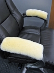 Office Chair Real Sheepskin Armrest Pads PAIR 10