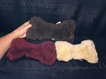USA Made Natural Wool LARGE Dog Bone Shaped Merino Sheepskin Dog Toy for Pets
