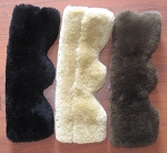 Pony Size Black Merino Sheepskin Covers Weaver Miracle Cribbing Straps