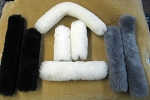 2 piece Merino Sheepskin Halter or Bridle set Crown & Noseband Pads
